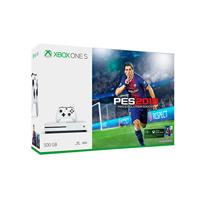 xbox one slim 500gb pes 18 bundle. Black Bedroom Furniture Sets. Home Design Ideas